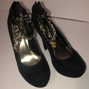 Charlotte Russe Gold Chain Pumps